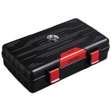waterproof LDPE Cigar Box Travel Portable 10 sticks Moisturizing Case Humidor CA-01