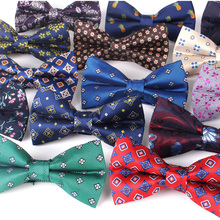Fashion Paisley Bow Tie For Men Women Classic Floral Bowtie Party Wedding Bowknot Adult Mens Bowties Cravats Red