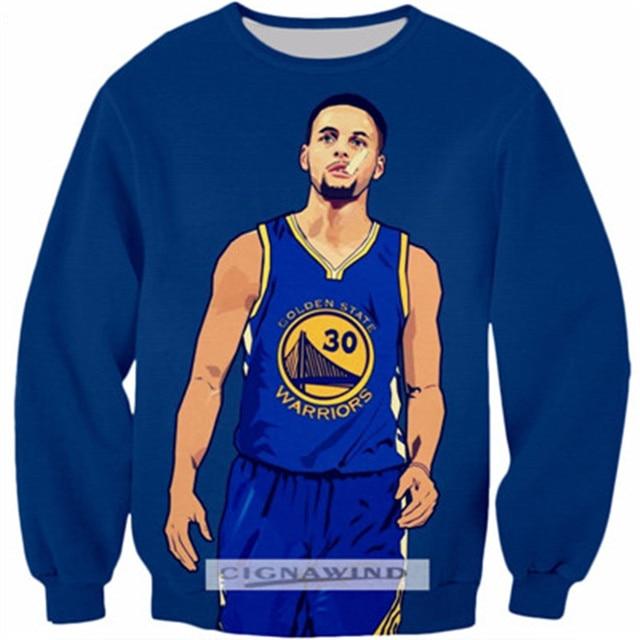 top fashion 6b134 d6e30 US $14.59 27% OFF|New Fashion hoodie Sweatshirt Men/Women hoodies Stephen  Curry character Print 3D Long sleeve Pullover casual streetwear topS 5XL-in  ...