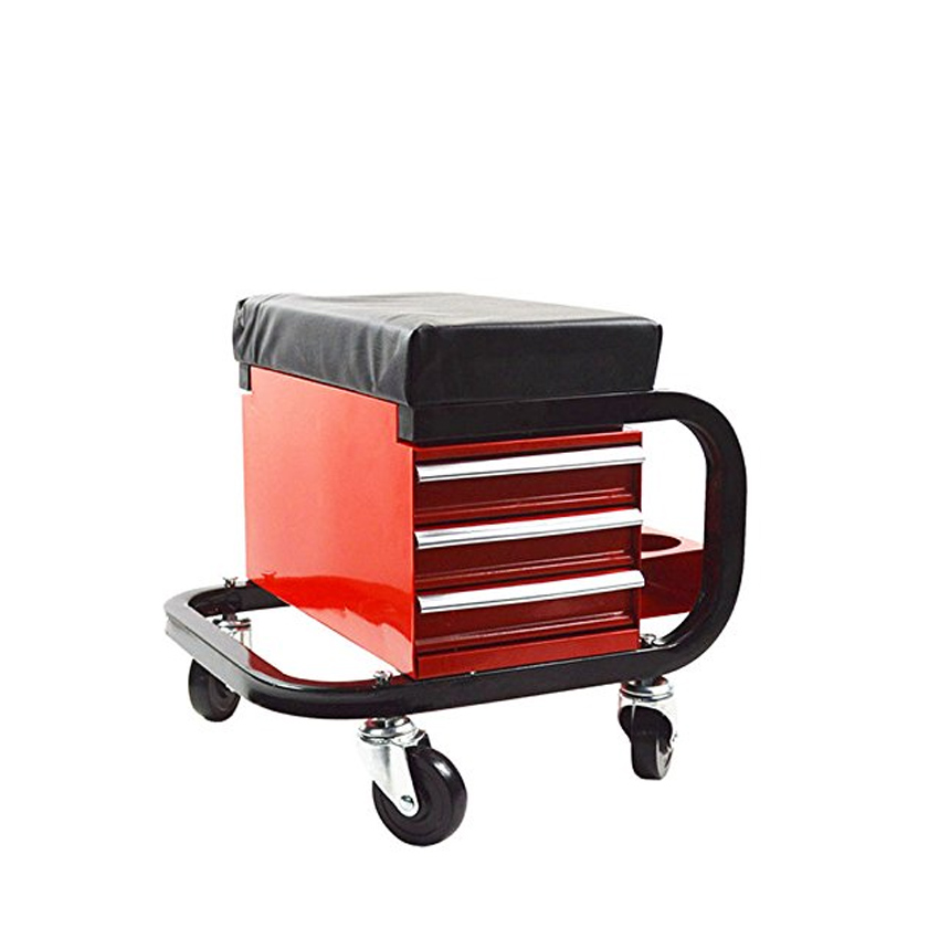 Creeper Seat Tool Tray Rolling Storage Cart Chair Car Work Stool Roller Creepers