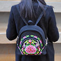 New national embroidery Backpack Ethnic Vintage Cotton shoulder bag Embroidered Floral Small Travel School Rucksack mochila