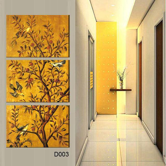3 piece canvas art bird tree decoration posters and prints wall art ...
