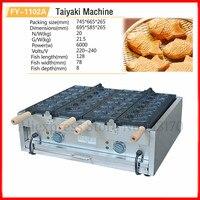 Commercial 110V 220V Electric Taiyaki Maker Fish Shaped Waffle Iron Baker Machine 12 Molds