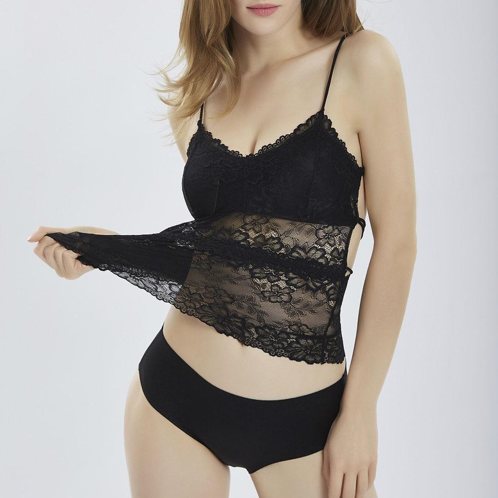 Summer Sexy Women Strap Tank Top Bustier Bra Lace Splice Cross Back Tops FS99
