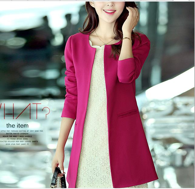 Jacket Spring Slim Autumn Korean Long Large-Size Women New And Wild 8840 Sections