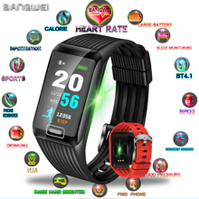 LIGE New Smart bracelet Smart Watch Men Women Heart Rate Monitor Blood Pressure Fitness Tracker LED color screen Sport Watch+Box