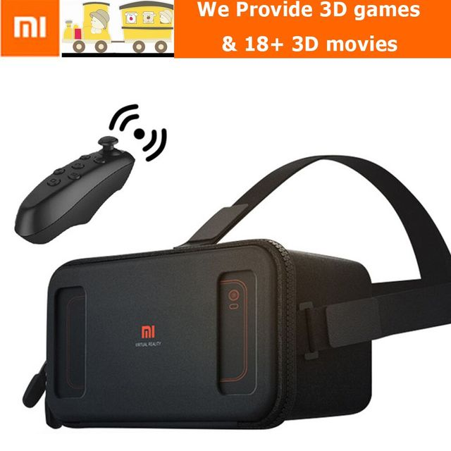 In Stock Xiaomi VR Original Mi Box Virtual Reality With Remote Controller 3D Immersive Headset Cardboard for 4.7- 5.7 inch Phone