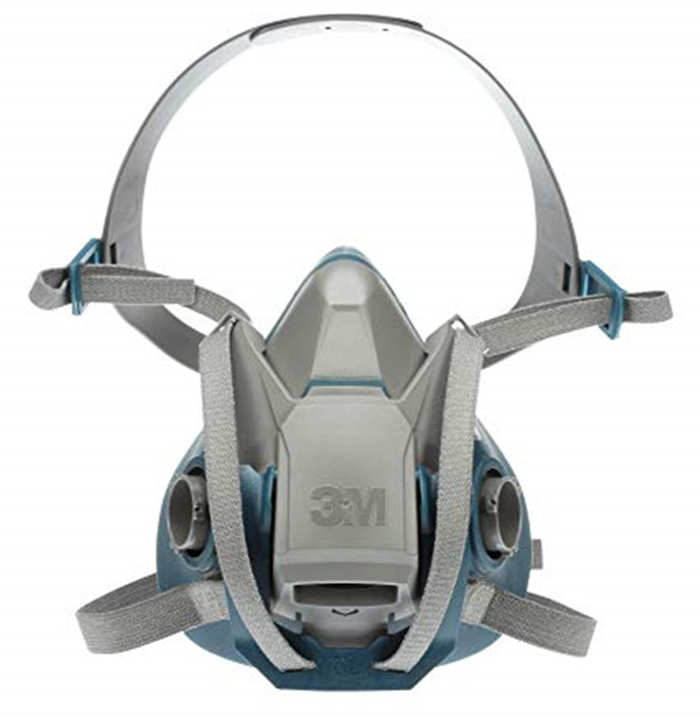 3M 6502QL Rugged Comfort Quick Latch Half Facepiece Reusable Respirator, Medium Anti-Gas Dust Vapor Organic