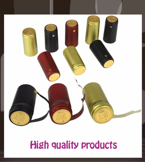 200pcs Pvc Heat Shrink Cap Home Brewing Wine Seal Cover Import Row Material Red Wine Bottle Seal Bar DIY Accessories