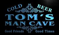 X0154 Tm Tom S Man Cave Beer Ale Bar Custom Personalized Name Neon Sign Wholesale Dropshipping
