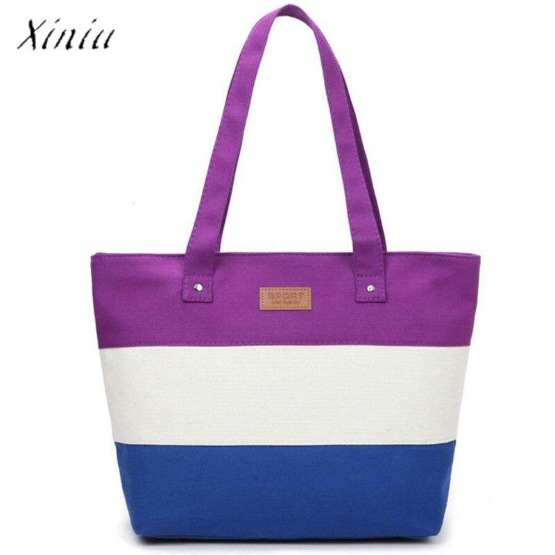 Canvas Handbags Shoulder Messenger Bags Large Tote Shopping Bag Beach Bags Tote Feminina