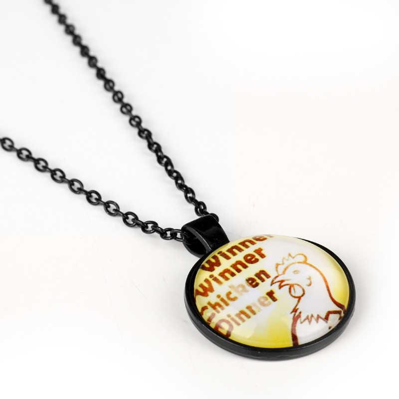 Горячая игра Jewelry playerunknown's боя pubg логотип Очки Подвески Ожерелья для мужчин Бусины цепи колье Цепочки и ожерелья Человек Для женщин