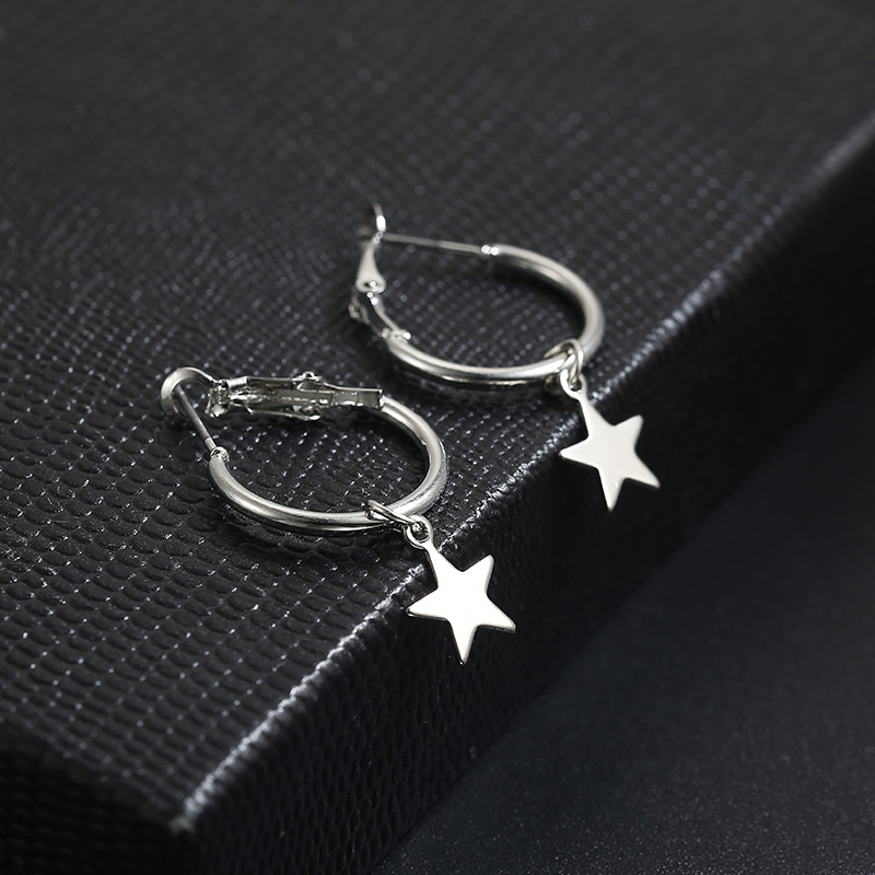 Simple Style Fashion Silver Gold Color Earrings for Women Square Round Geometric Hanging Earrings 18 Female Pendientes Jewelry 37