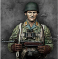 1/10 Scale Models WW2 German paratrooper Resin Bust Model Free Shipping