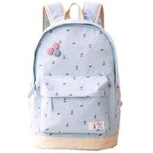 Холст школьный рюкзак Для женщин Прекрасный с цветочным принтом Рюкзаки подросток большой Ёмкость дамы Сумки на плечо книга сумка Mochila