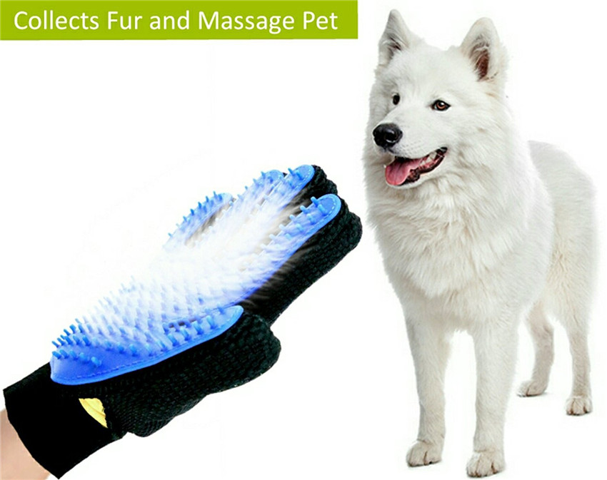 Pet Dirt Remover + Bath + Massage Gloves 3