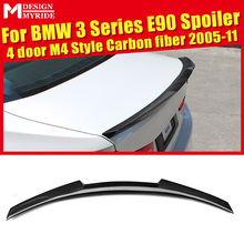 все цены на 3-Series E90 Sedan M4 Style Carbon Fbier Trunk Spoiler Wing For BMW 318i 320i 323i 325i 328i 335i Add on Look Rear Wings 2005-11