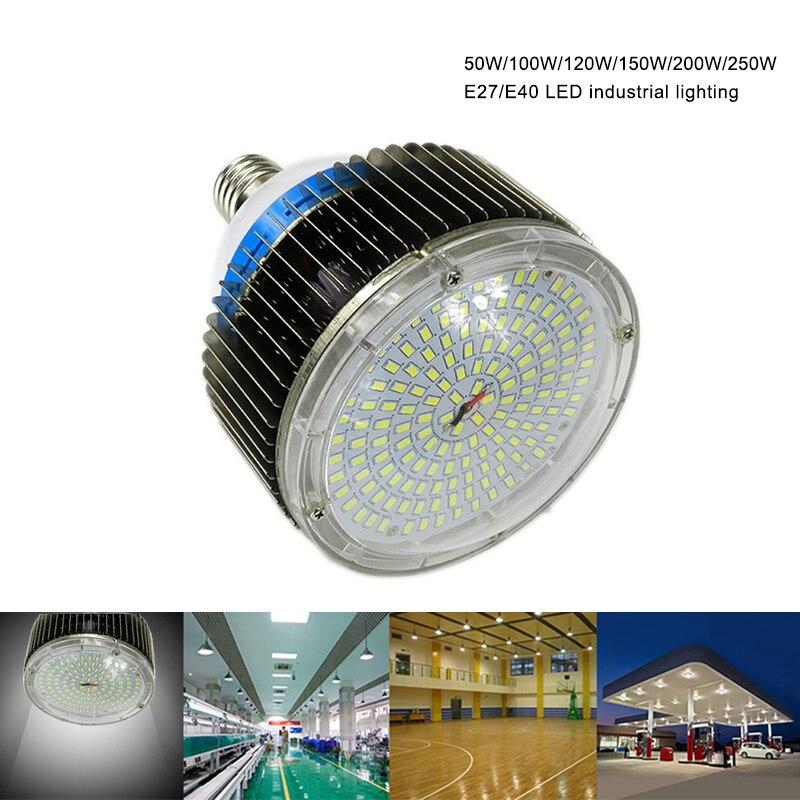 50 W 100 W 120 W 150 W 200 W 300 W 400 W LED haute baie lumières E27 E40 crochet LED éclairage industriel pour Garage entrepôt magasin lumières