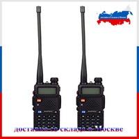 RU entrepôt! 2 pcs UV-5R Portable Radio Double bande VHF UHF two way radio 136-174/400-520 jambon radio uv-5r 1800mA Talkie Walkie