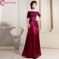 Cheap Floor Length Half Sleeve And Embroidered Taffeta Classic Mother Of The Bride Dress 2018