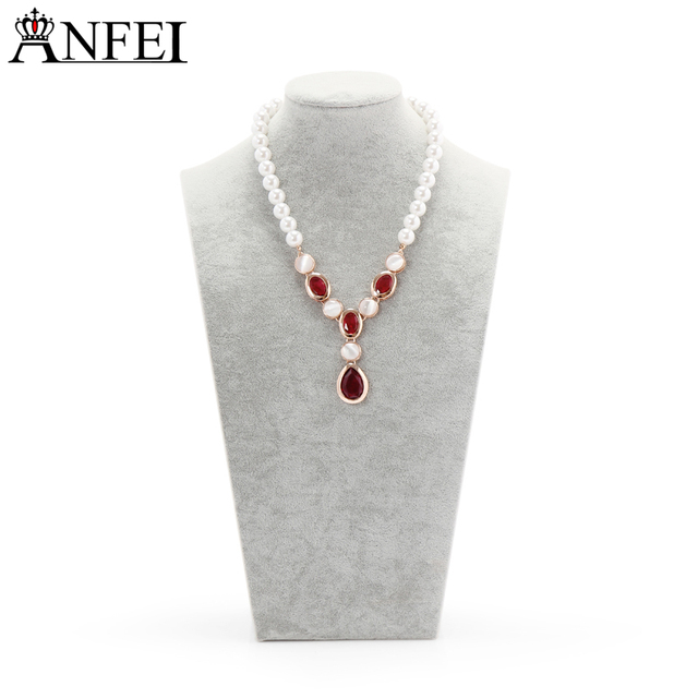 Anfei Velvet Necklace Display Jewelry Bust Display Mannequins Rack