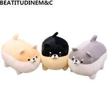 1Pcs 40cm/50cm New Angry Fat Shiba Inu Plush Toys Animal Stuffed Childrens Soft Sofa Pillow Cushion Home Decor Gifts