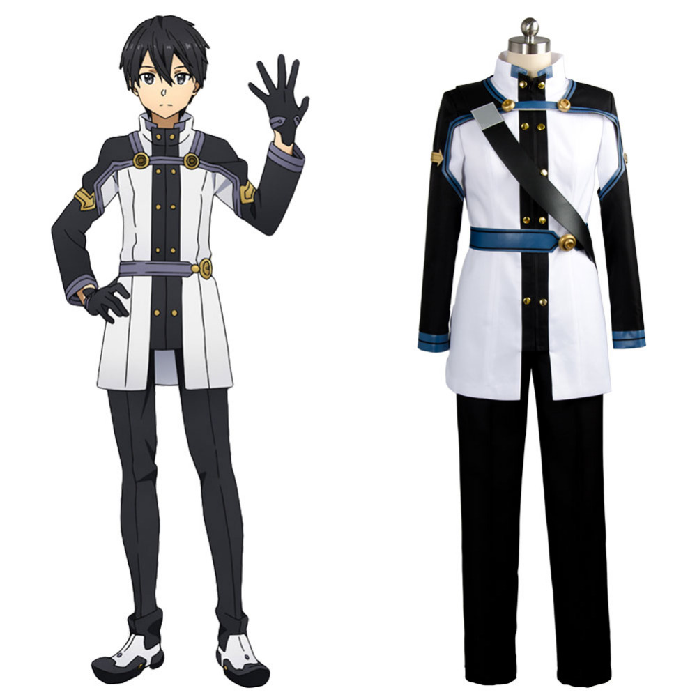 Original SAO Sword Art Online the Movie Ordinal Scale OS Kirito Kirigaya Cosplay Costume Real 100% Outfit  Anime For Halloween