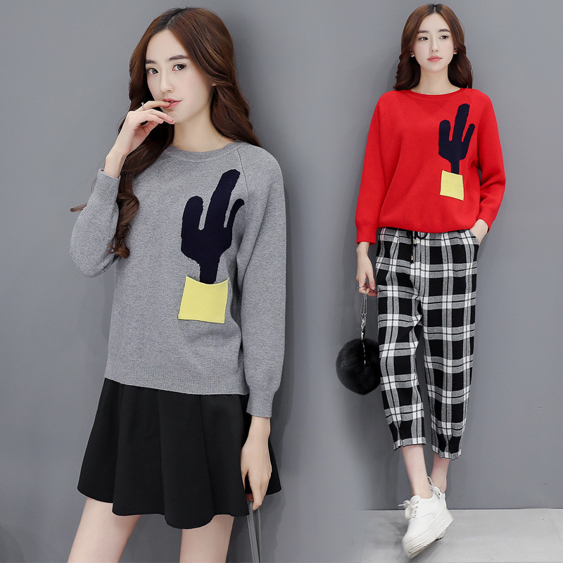 2016 Top Fashion Sale Wool Autumn And Winter Fashion T-shirt Korean Slim Sleeved Knit Sweater Female Student Thickened Tide