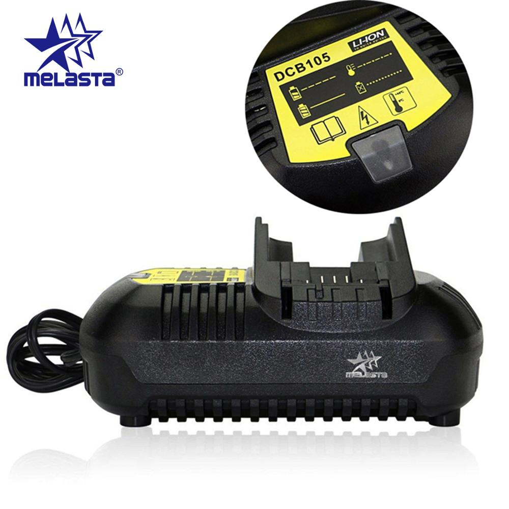 Melasta Fast Li-ion Battery Charger for Dewalt 10.8V 12V 14.4V 18V 20V DCB105 DCB101 DCB120 DCB115 DCB107 DCB140 with EU plugMelasta Fast Li-ion Battery Charger for Dewalt 10.8V 12V 14.4V 18V 20V DCB105 DCB101 DCB120 DCB115 DCB107 DCB140 with EU plug