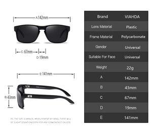 Image 3 - VIAHDA Gepolariseerde Zonnebril Voor Mannen Rijden Fashion Merk Desinger Zonnebril Voor Mannen Vrouwen Vierkante Spiegel