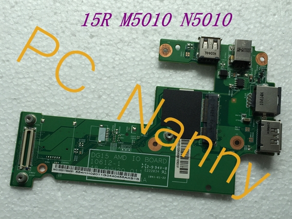 FOR DELL INSPIRON AMD DG15 15R M5010 N5010 DC Charger Power Board USB E-sata ethernet LAN 01074