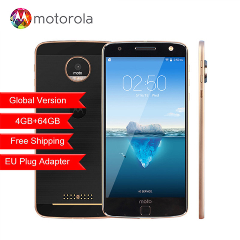 Оригинальный Motorola MOTO Z XT1650-05 Snapdragon 820 5,5 дюймов 2560X1440 2 К 4G B Оперативная память 6 4G B встроенная память 4G LTE Android 13.0MP мобильного телефона