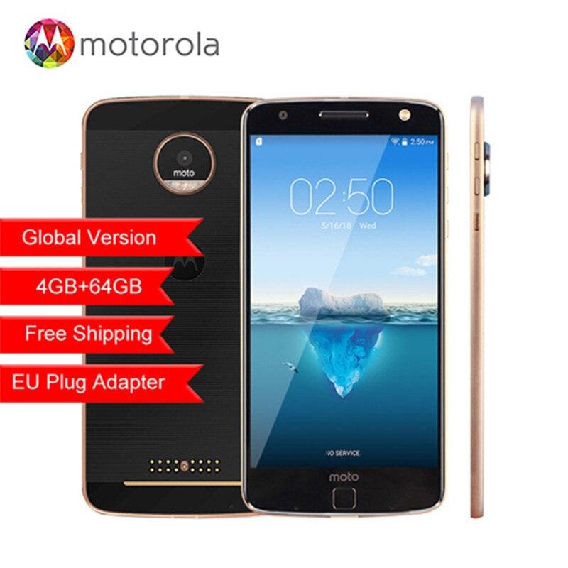 Originais Motorola MOTO Z XT1650-05 Snapdragon 820 5.5 polegada 2560X1440 2 k 64 4 gb RAM gb ROM 13.0MP 4g LTE Android Telefone Móvel