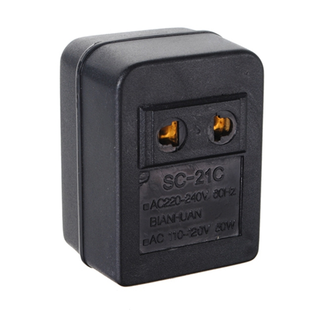 US Japan Canada Brazil AC 220V to 110V AC Power Voltage Converter ...