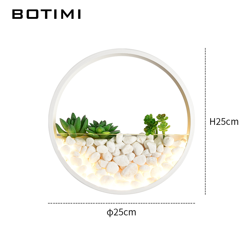 BOTIMI Modern 220V LED Wall Lamp For Living Room Decor Metal Wall Sconce White Bedside Lamps Round Wall Mounted Rooms Lights in LED Indoor Wall Lamps from Lights Lighting