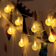 LED fairy lights string bubble ball battery power waterproof holiday lighting for Christmas wedding party
