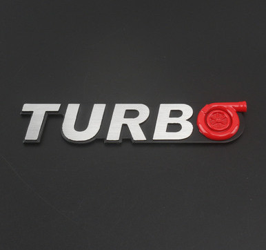 TURBO Red Sticker Race Universal Auto Car Metal Logo Stylish Emblem Badge Decal