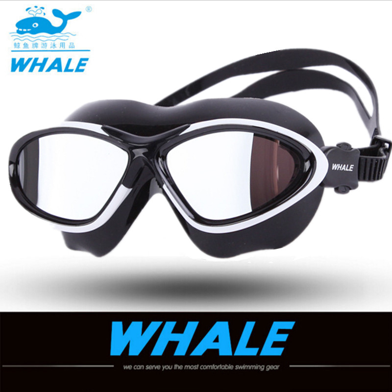 Brand Large Frame Colorful Plating Anti-Fog Swim Goggles Men Women Scratch-proof Lens Adjustable Professional Swimming Goggles