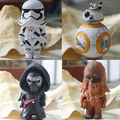 4 Unids Chewbacca Darth Vader Stormtrooper de Star Wars Figuras Llavero Llavero BB-8