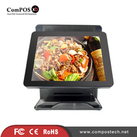 Muti Function 15 15 Double Pure Touch Restitive Screen Lpos All In One Windows POS1618 DP