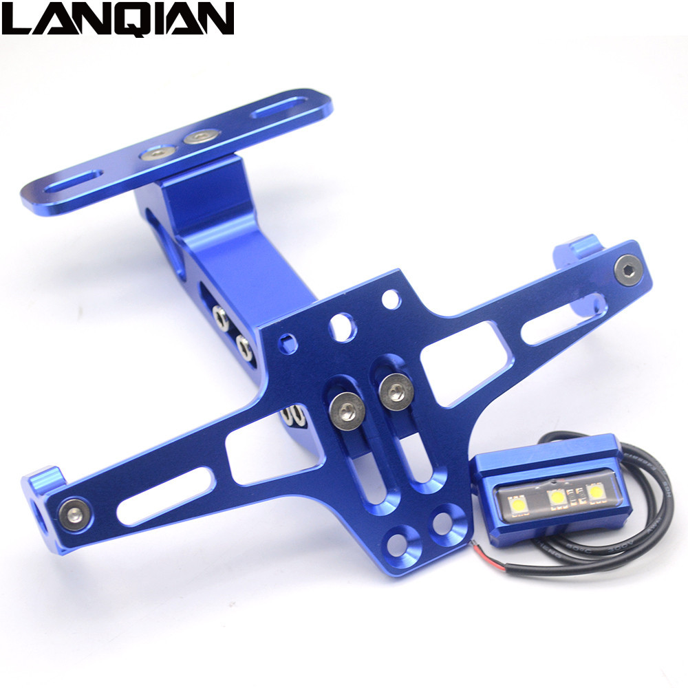 6 Colors New style Motorcycle CNC License Plate Bracket Holder Tail Tidy For HONDA MSX125 MSX300