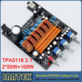 Собранный TPA3116 2.1CH класса D 50 Вт + 50 Вт + 100 Вт высокой мощности аудиоусилитель доска, Бесплатная доставка