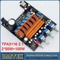 Montado TPA3116 2.1CH classe D 50 W + 50 W + 100 W amplificador de alta potência placa amplificador de áudio, Frete grátis