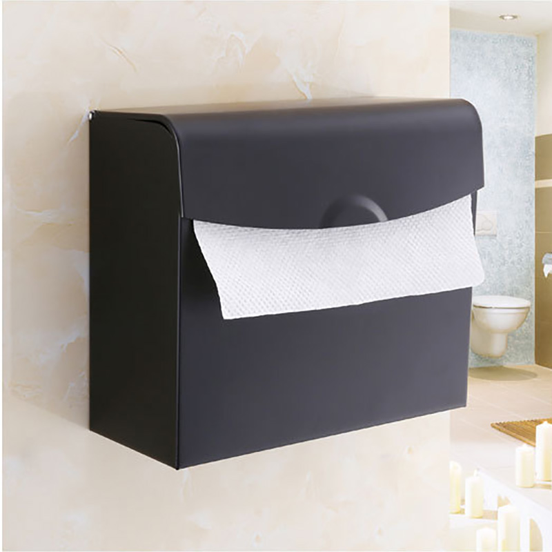 купить Paper Holder Vintage Bathroom Black Stainless Steel Waterproof Mobile WC Toilet Paper Tissue Towel Holder Rack Box Cover Storage по цене 2808.98 рублей