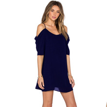 Style women dress womens solid summer fall beach sexy clothing new laides female dresses