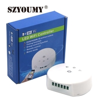 SZYOUMY NEW UFO MINI WIFI led controller DC12-24V RGB/RGBW Timing Function Group Music Mode 16million colors LED wifi controller