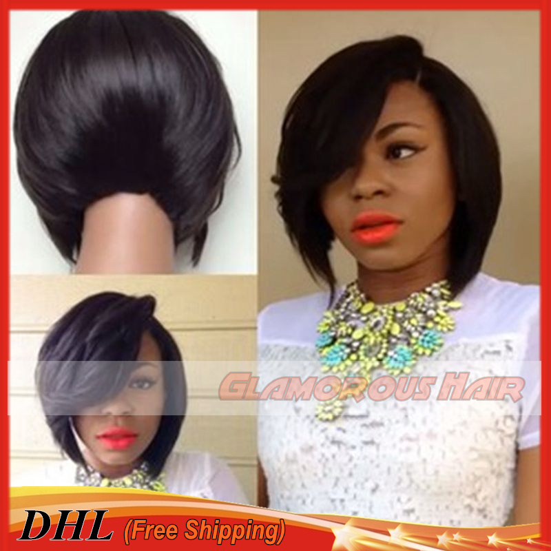 Sexy Black Women Short Bob Hair Wig Braided Synthetic Lace Front Wig