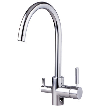 Bagnolux Kitchen Faucet Rotary Hot And Cold Faucet Single Hole Tap Double Handle Faucet