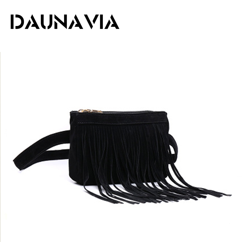DAUNAVIA waist belt bag for women 2018 New Arrival Women Waist Pack Fashion Simple Designer fanny pack Waist Bag Tassel belt Bag