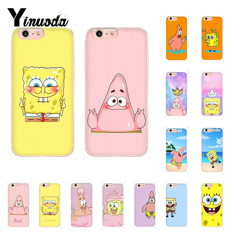 Yinuoda Funny SpongeBob Patrick Best Friends DIY Luxury Case for iPhone 8 7 6 6S Plus X XS MAX 5 5S SE XR 10 Cover winnie the pooh iphone case